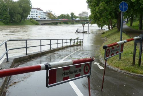 high water, road, locked